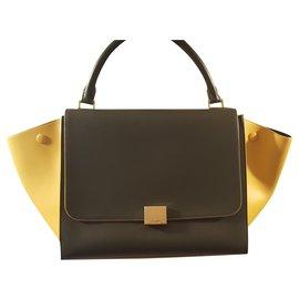 Céline-Trapeze Bag size M-Khaki