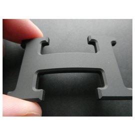 Hermès-New matte hermès pvd buckle-Black