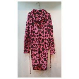 Burberry-Burberry fantasy dress-Black,Pink