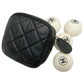 Chanel-Set with tennis case-White