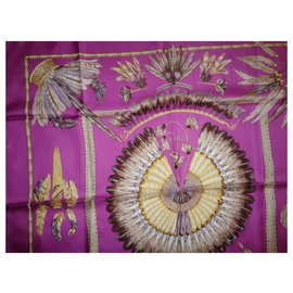 Hermès-Silk scarves-Fuschia