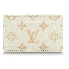 Louis Vuitton-LV card holder new-Beige