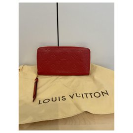 Louis Vuitton-Zippy empreinte wallet-Red