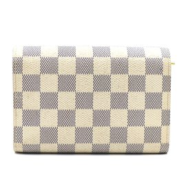 Louis Vuitton-Louis Vuitton Damier Azur Alexandra Trifold Long Wallet-White