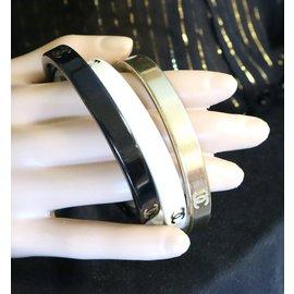 Chanel-Chanel Gold Black White CC Triple Bangles Cuffs-Multiple colors