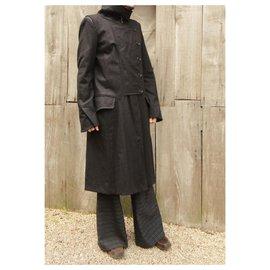 Céline-Céline t coat 38 New condition-Dark brown