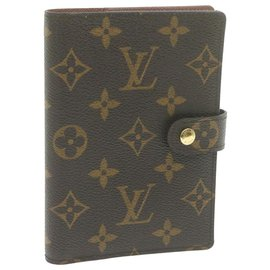 Louis Vuitton-Louis Vuitton Agenda Cover-Brown