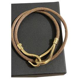 Hermès-Hermès jumbo with gold hardware-Brown