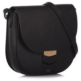 Céline-Celine Black Compact Trotteur Crossbody bag-Black