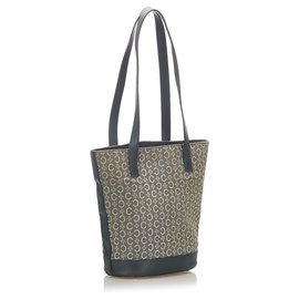 Céline-Celine Gray C Macadam Canvas Tote Bag-Black,Grey