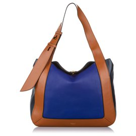 Mulberry-Mulberry Blue Leather Tote Bag-Brown,Blue