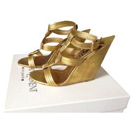 Yves Saint Laurent-Heels-Golden