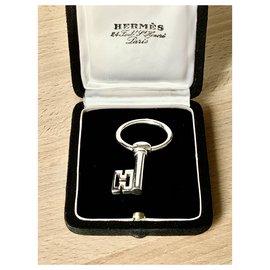 Hermès-HERMES Silver Keychain 925-Silvery