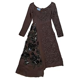 Prada-Dresses-Brown