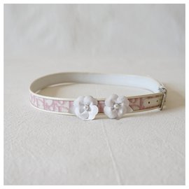 Christian Dior-Belts-Pink,White