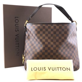 Louis Vuitton-Louis Vuitton Delightful MM Damier Ébène Canvas-Brown