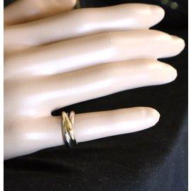 Cartier-cartier 18K 750 Tricolor Trinity Ring Size 51-Multiple colors