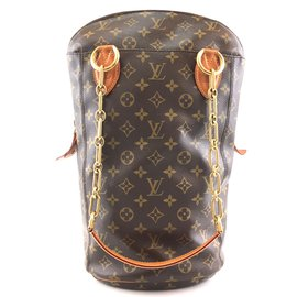 Louis Vuitton-Louis Vuitton Collaboration Punching Tote Monogram Canvas-Brown