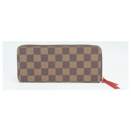 Louis Vuitton-Louis Vuitton portofeuilles Clemence Womens long wallet N60534 cerise-Other