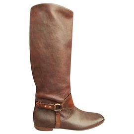Gucci-Gucci p boots 39-Brown