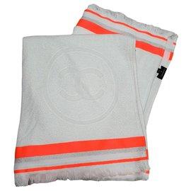 Chanel-Chanel towel 2018-Silvery,Beige,Orange