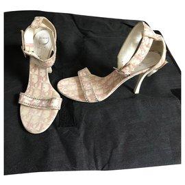 Dior-Sandals-Pink,White