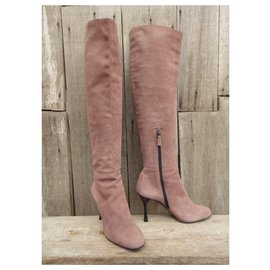 Gucci-Gucci p boots 38,5-Pink