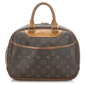 Louis Vuitton-Louis Vuitton Brown Monogram Trouville-Brown,Dark brown