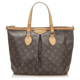 Louis Vuitton-Louis Vuitton Brown Monogram Palermo PM-Brown,Dark brown
