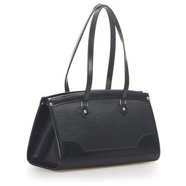Louis Vuitton-Louis Vuitton Black Epi Madeleine PM-Black