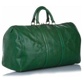 Louis Vuitton-Louis Vuitton Green Epi Keepall 50-Green