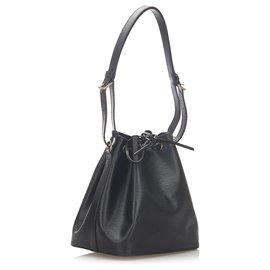 Louis Vuitton-Louis Vuitton Black Epi Petit Noe-Black