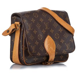 Louis Vuitton-Louis Vuitton Brown Monogram Cartouchiere MM-Brown