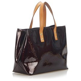 Louis Vuitton-Louis Vuitton Purple Vernis Reade PM-Brown,Purple