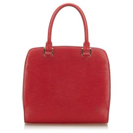 Louis Vuitton-Louis Vuitton Red Epi Pont Neuf-Red