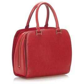 Louis Vuitton-Louis Vuitton Red Epi Pont Neuf-Red