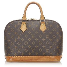 Louis Vuitton-Louis Vuitton Brown Monogram Alma PM-Brown,Dark brown