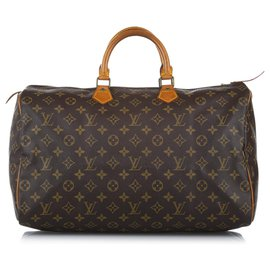 Louis Vuitton-Louis Vuitton Brown Monogram Speedy 40-Brown