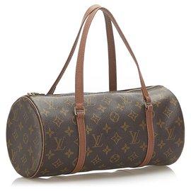 Louis Vuitton-Louis Vuitton Brown Monogram Papillon 30-Brown,Dark brown