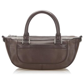 Louis Vuitton-Louis Vuitton Brown Epi Dhanura PM-Brown,Dark brown
