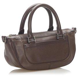 Louis Vuitton-Louis Vuitton Brown Epi Dhanura PM-Brown,Dark brown