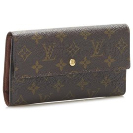 Louis Vuitton-Louis Vuitton Brown Monogram Porte Tresor International-Brown