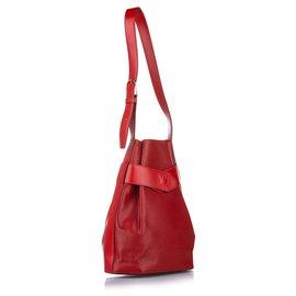 Louis Vuitton-Louis Vuitton Red Epi Sac dEpaule-Red