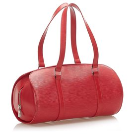 Louis Vuitton-Louis Vuitton Red Epi Soufflot-Red