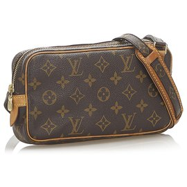 Louis Vuitton-Louis Vuitton Brown Monogram Marly Bandouliere-Brown,Dark brown