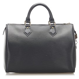 Louis Vuitton-Louis Vuitton Black Epi Speedy 30-Black