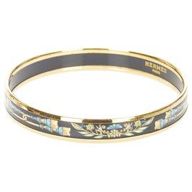 Hermès-Hermes Gold Cloisonne Bangle-Multiple colors,Golden