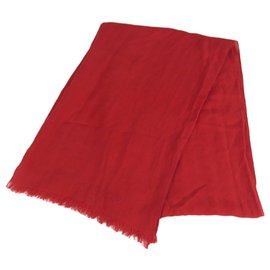 Louis Vuitton-Louis Vuitton Red Cotton Shawl-Red