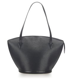 Louis Vuitton-Louis Vuitton Black Epi Saint Jacques GM Long Strap-Black