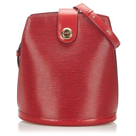 Louis Vuitton-Louis Vuitton Red Epi Cluny-Red